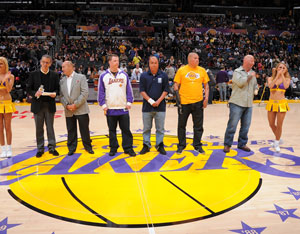 LA Lakers honor Operation Mend Photo Gallery