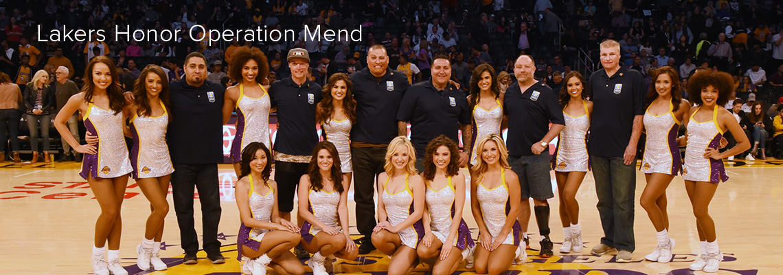 Lakers Honor Operation Mend